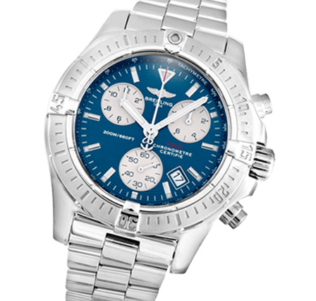 f8133c1ff9d Breitling Colt Quartz A73380 Blue Baton Watch For Sale | Swiss Watch ...