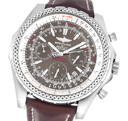991f95d2f8be Pre Owned Breitling Bentley Motors A25362 Leather - Brown Bronze ...