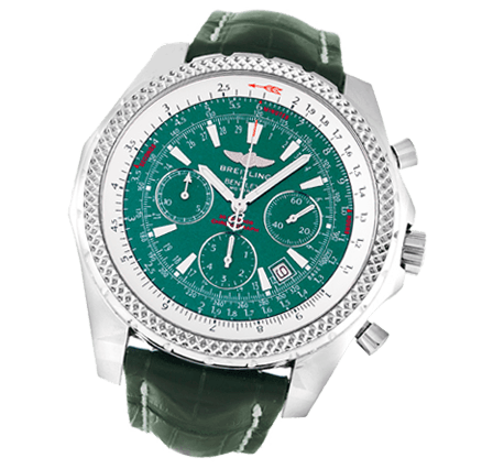 a537863bbe5a Pre Owned Breitling Bentley Motors A25362 Crocodile - Green Green ...