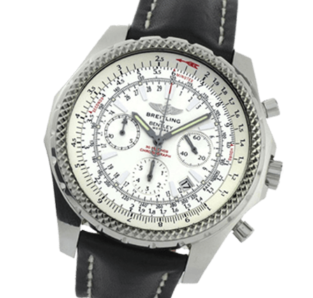 6b11a755425f Pre Owned Breitling Bentley Motors A25362 Leather - Black Watch for ...
