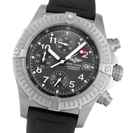 check out 460a7 b4cbf Breitling Chrono Avenger E13360 Rubber - Black Black Arabic ...