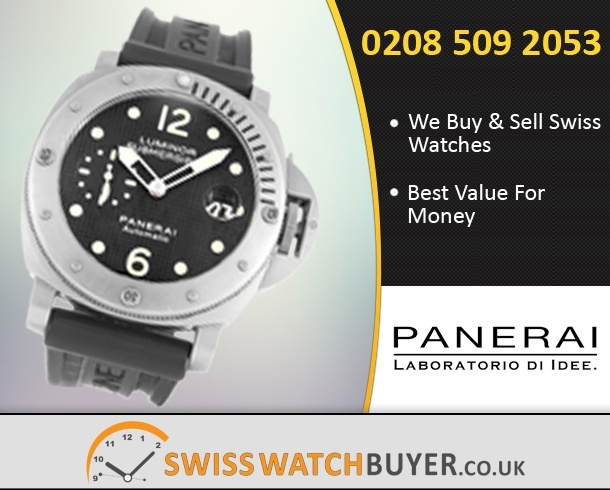 Sell Your Officine Panerai Luminor Submersible Watches