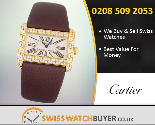 Sell Your Cartier Tank Divan Watches