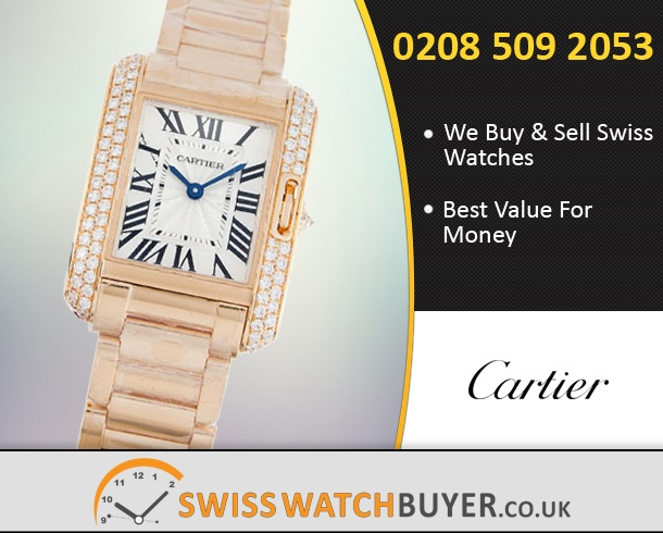 Sell Your Cartier Tank Anglaise Watches