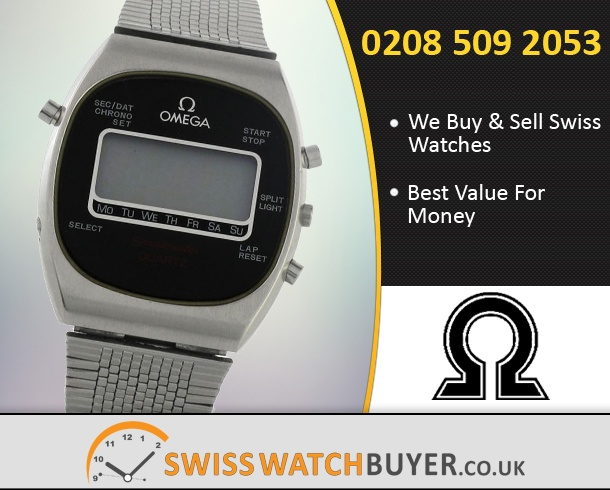 Sell Your OMEGA Speedmaster Quartz LCD Watches