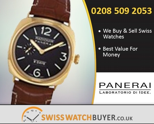 Sell Your Officine Panerai Radiomir Manual Watches