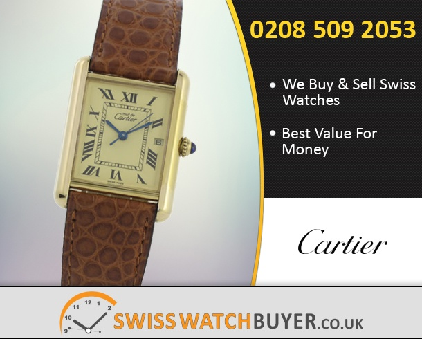 Sell Your Cartier Tank Vermeill Watches